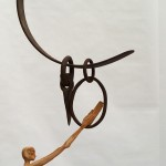 FREE FALL the IRON CIRCUS 46 x 36 cm wood & iron $250.00
